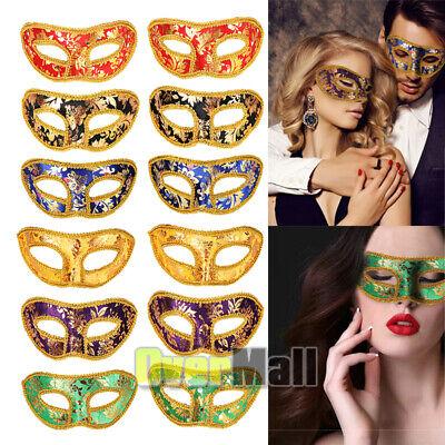 12pcs Venetian Mardi Gras Half Face Masquerade Eye Mask Halloween Costume Party
