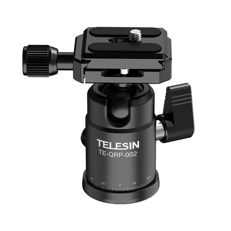 TELESIN 360° Gimbal Head 1/4 Screw Or 3/8 Screw For Canon Sony DSLR GoPro 10 9 8