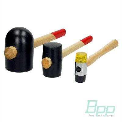 Gummihammer Schonhammer Ausbeul Hammer 3 tlg. Hämmer Gummihämmer Werkzeug Set