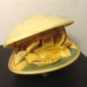 Antiques  Chinese Miniature Clam Shell