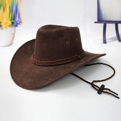 Western Cowboy Hat Men Boys Riding Cap Wide Brimmed Crushable Crimping Gifts](Boys Cowboy Hat)