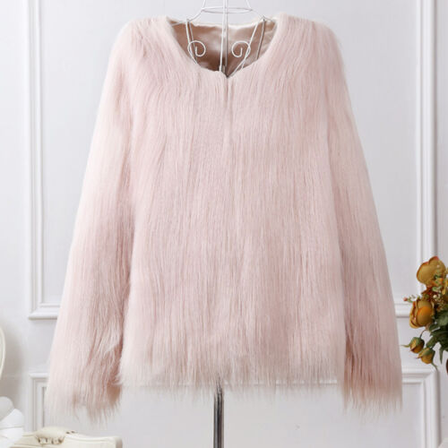 Luxury Women's Winter Faux Fur Warm Jacket Coat Shaggy Cardigan Tops Outerwear 9