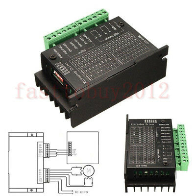 Single Axis Stepper Motor Driver Controller 4axis Tb6600 9-42vdc 4.0a Micro-step