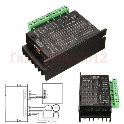 Tb6600 Single Axis 4a Stepper Motor Driver Controller 940v Micro-step Cnc Black