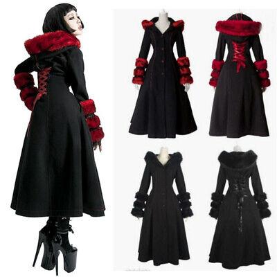 Viktorianisch Damen Pelzkragen Hoodie-Mantel Jacken Kleider Halloween - Pelz Kostüm Halloween