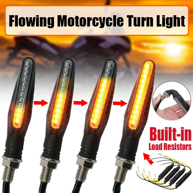 Car Parts - 4PCS 12 LED Mini Motorcycle Motorbike Turn Signal Lights Indicators Amber Lamp X