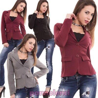 Damenjacke Sweatshirt Baumwolle Lange Ärmel Geschraubt Buttons Neu CC-1113 Button Damen Jacken