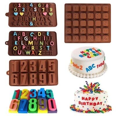 Silicone Alphabet Letter Number Mold Cake Decorating Chocolate Baking Mould Tool