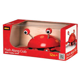BRIO push along crab - toddler wooden toys - brand new in box