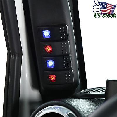 A Pillar Switch Panel Kit 4 LED Pod Left Hand for Jeep Wrangler 2011-2018 JK Left Hand Panel