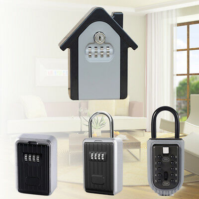 Combination Key Lock Box 4 Digit Wall Mount Safe Security Storage Case Organizer