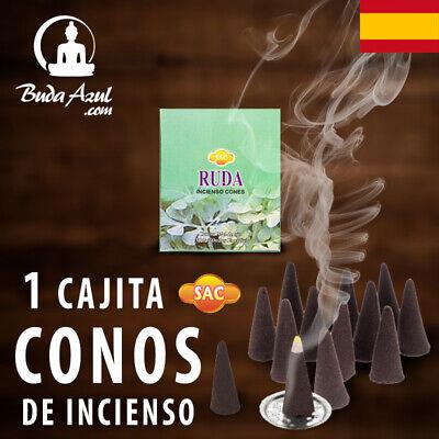 CONOS RUDA ARRUDA INCIENSO SAC 1 CAJITA CONO INDIO FRAGANCIA LARGA DURACION