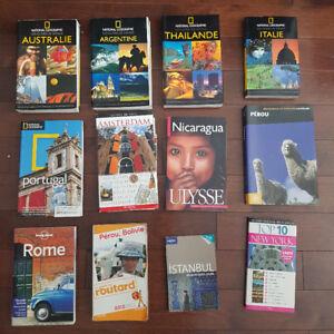 Livres de voyage - Plusieurs destinations (5$ chacun)