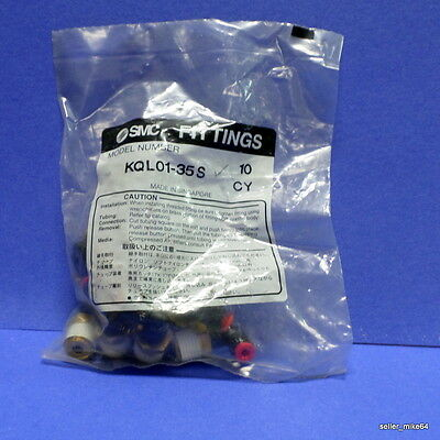SMC KQL01-35S MALE UNION PLUG-IN REDUCER ELBOW, BAG OF 10, SEALED *KJS* ()