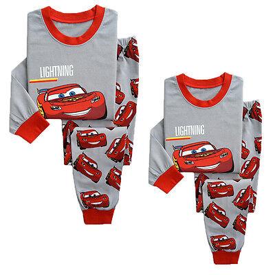 Kids Boys Girl Lightning McQueen Pajamas Sleepwear Nightwear Pyjamas Clothes - Lightning Mcqueen Clothes