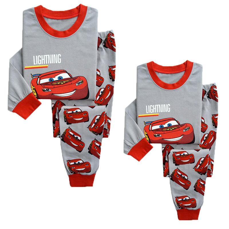 Kids Boys Girl Lightning McQueen Pajamas Sleepwear Nightwear Pyjamas Clothes Set