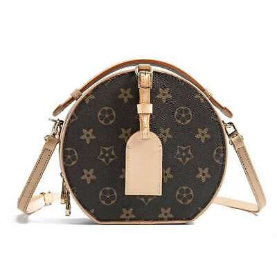 Women Real Leather Retro Circle Handbag Bag mini Shoulder Crossbody Bags Vintage Genuine Vintage Retro Circle