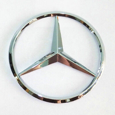 "Mercedes-Benz Trunk Chrome Star Emblem Badge Logo 3.5"" 90mm 2128170016"