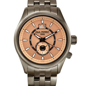 NEW Paul Perret 14101 Swiss Men's Multi-Textured Dial Watch