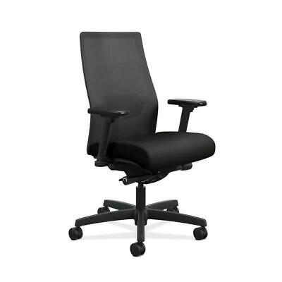 Hon Ignition 2.0 Mesh Back Task Chair With Adjustable Lumbar Support In Black