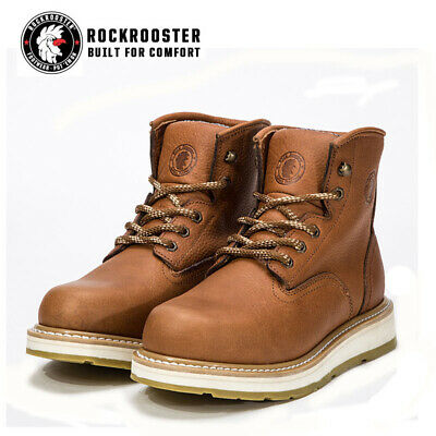 ROCKROOSTER Men's Soft Toecap Water Resistant Work Safety Boots Lace-up Shoes