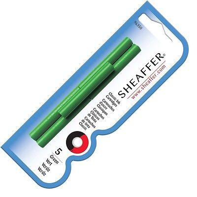 Sheaffer Fountain Pen Ink Cartridges Green x 15