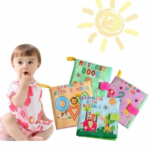 US Soft Cloth Baby Book With Rustle Sound Musical Newborn Ba