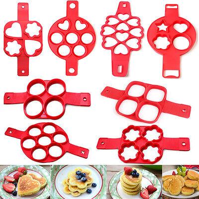 New Non Stick Flippin Fantastic Nonstick Pancake Egg Ring Maker Kitchen Tools