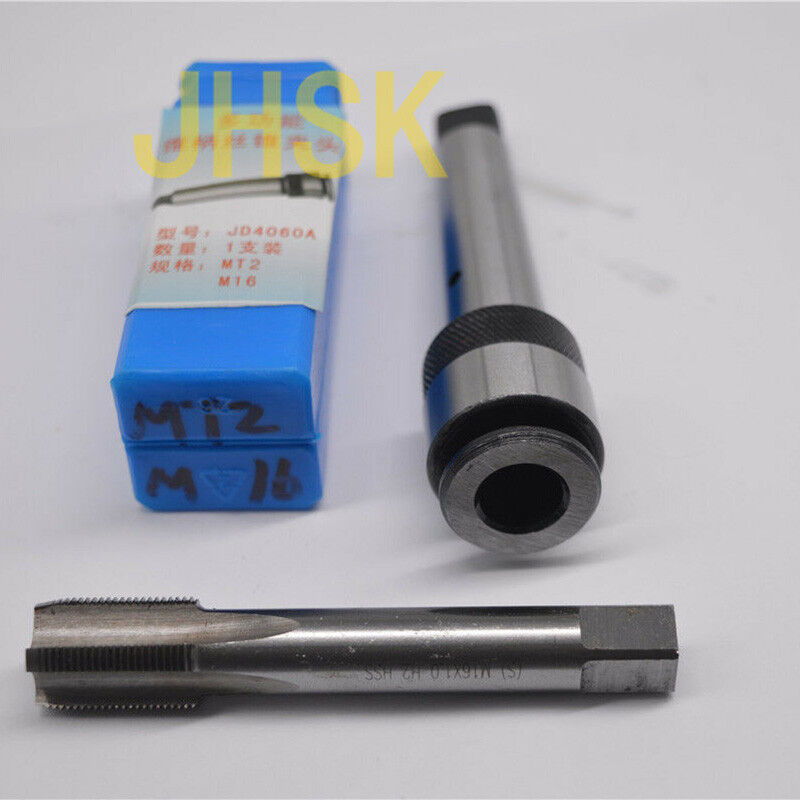 MT2 M12  x1.75  x1  x0.75  x0.5  TAP   2# Morse taper jacket a connect for tap
