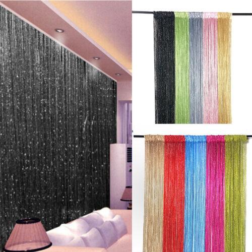 Beaded Door String Beads Tassel Fringe Panel Crystal Room Cu