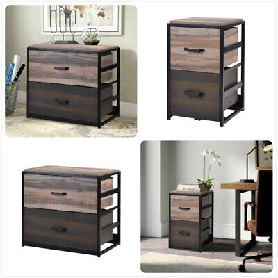 2 Drawers File Cabinet Vertical Storage Wood Filing Cabinet Office Legalletter
