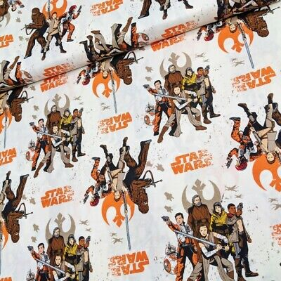 100% Cotton Fabric Camelot Star Wars The Resistance Luke Skywalker Ray Finn
