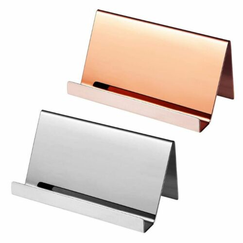 Stainless Steel Business Name Card Holder Office Desktop Dis