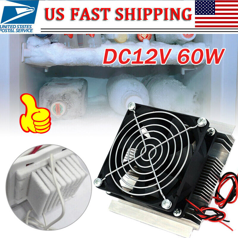 Thermoelectric Peltier Refrigeration Cooler DC 12V Semiconductor Air Conditioner