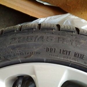 BMW Factory Rims and Tires with Excellent Tread! Kitchener / Waterloo Kitchener Area image 1