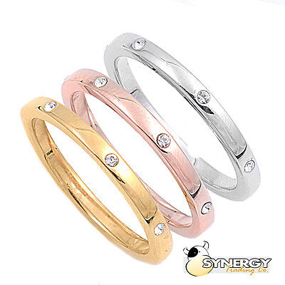 - Sterling Silver Tri Color Band Gold Rose Gold Silver Ring Sizes 5 6 7 8 9 10