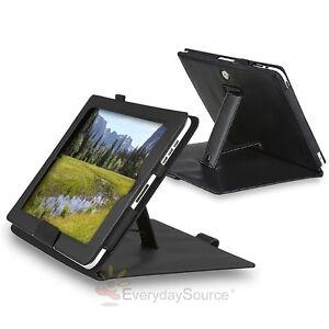 NEW-BLACK-LEATHER-FLIP-CASE-COVER-STAND-POUCH-W-STAND-FOR-IPAD-1-1ST-GEN