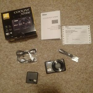 Nikon Coolpix S7000 camera, just got, used a couple of times