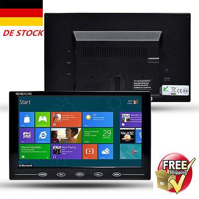 9 HD Security CCTV DVR Display Touchbutton Screen Monitor AV/HDMI/VGA w/Speaker