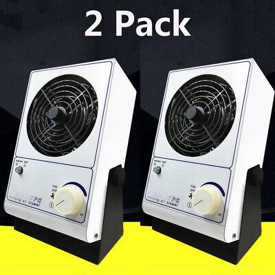 2pcs 25w Pc Ionizing Air Blower Fan Ion Anti-static Ionic Fan Ac 110v Stock