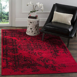 Gorgeous red & black area rug - $65