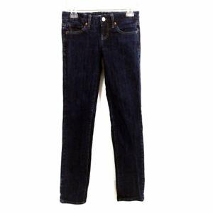 American Eagle Jeans Ultra Low Rise Dark Stretch Denim Womens 0