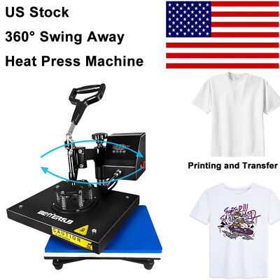 Digital Heat Press Machine Swing Away 9x12printing Transfer Diy T-shirts Mat
