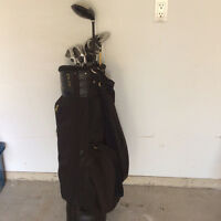 Golf Clubs, Bag and Pull Cart
