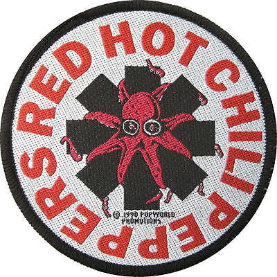"""RED HOT CHILI PEPPERS AUFNÄHER / PATCH # 6 """"LOGO"""" - 9 cm"""