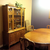 China Cabinet & Dining Table Set