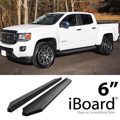- iBoard Black Running Boards Style Fit 15-19 Chevy Colorado GMC Canyon Crew Cab