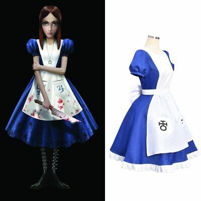 Halloween Party Alice Madness Maid Returns Classic Kleid Cosplay Kostüm Zofe DE