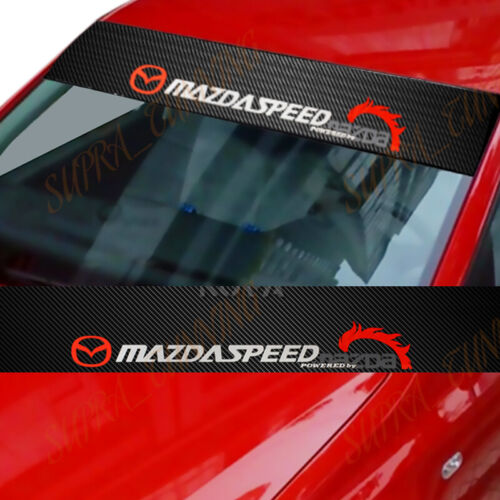 MAZDASPEED Windshield Carbon Fiber Vinyl Banner Decal Sticker 4 Mazda Speed