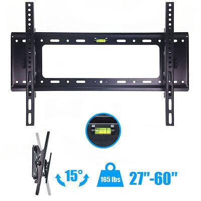 Flat TV Wall Mount Bracket 15° Tilt Swivel For 27